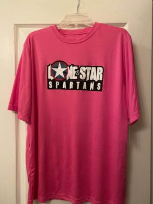 charity pink tech shirt