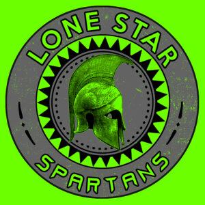 Lone Star Spartans green helmet tee shirt
