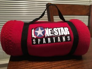 Lone Star Spartans Fleece Stadium Blanket in Red color