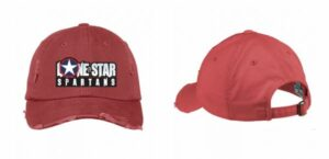 Lone Star Spartans Baseball Hat in Dashing Red