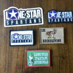 Lone Star Spartans Sticker and Patch bundle