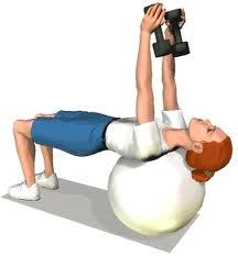 supine tricep extension