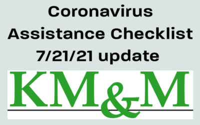 Pandemic Assistance Checklist July 20, 2021, Update