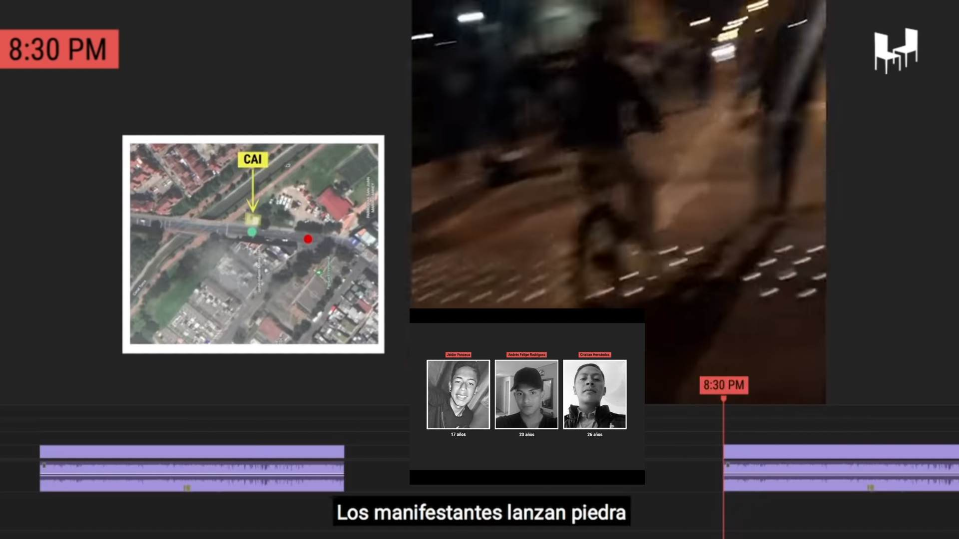 reconstruyó cómo el 9 de septiembre en el barrio Verbenal, de la localidad de Usaquén, en Bogotá, policías mataron a bala a Jaider Fonseca, Andrés Rodríguez y Cristian Hernández, jóvenes que participaron en las protestas por el asesinato de Javier Ordóñez, también a manos de policías.