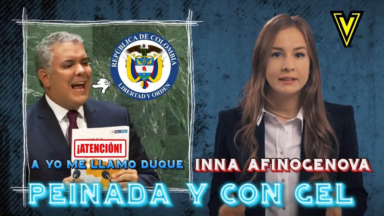 """PEINADA DE INNA AFINOGENOVA A IVAN DUQUE Y CON GEL #InnaAfinogenova """"INNA VICKY"""""""