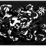 "Black Phantasm Tendril, 2013. Archival inkjet monotype on rag paper. 22"" x 17""."
