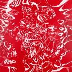 "Echelon 2, 2014. Acrylic on canvas. 36"" x 36""."