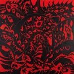 "Illumination Machine, 2014. Acrylic on canvas. 36"" x 36""."