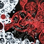 "The Paradox, 2010. Acrylic on canvas. 36"" x 36""."
