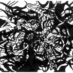 "Unknown Entity, 2013. Archival inkjet monotype on rag paper. 22"" x 17""."