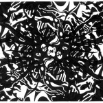 "Black Lost Unknows, 2013. Archival inkjet monotype on rag paper. 22"" x 17""."