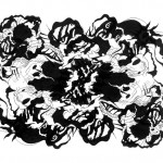 "Floating Phantasms, 2013. Archival inkjet monotype on rag paper. 22"" x 17""."