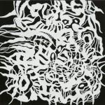 """Ghost Paradise, 2012. Acrylic on canvas. 12"""" x 12""""."""