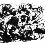 "Phantasm Tendril, 2013. Archival inkjet monotype on rag paper. 22"" x 17""."