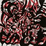 """The Beast, 2012. Acrylic on canvas. 12"""" x 12""""."""