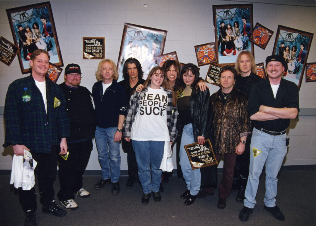 With the Aerosmith peeps
