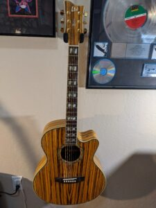 Rare ESP/LTD Zebra Wood Xtreme series Acoustic/Electric. See this guitar at Guitar Pickers in Scottsdale