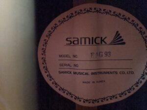 Samick Artist Series rare Korean mid 90s custom built. See this at Guitar Pickers in Scottsdale. $900
