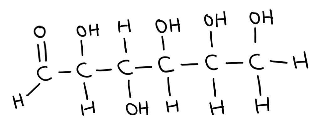 Straight chain glucose