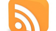 The RSS (Really Simple Syndication) icon.
