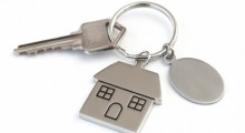 House key on a seperate ring for safety.