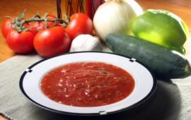 Bristo Aix tomato gazpacho soup