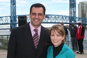 Shannon and Telis Assimenios, General Manager of Tom Bush Family of Dealerships