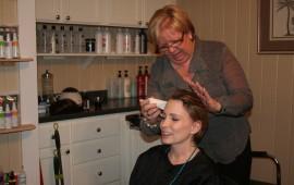 shaving off Shannon's hair
