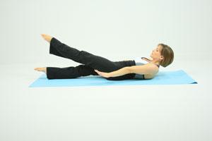 Full body flutter kick tummy exercise