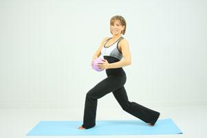 Squat twist ab/tush toner exercise