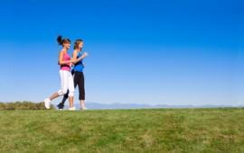 Two Women Running