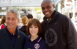 Greg Louganis, Shannon Miller, and Carl Lewis