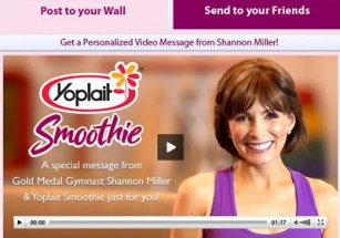 Shannon Miller and Yoplait Smoothie