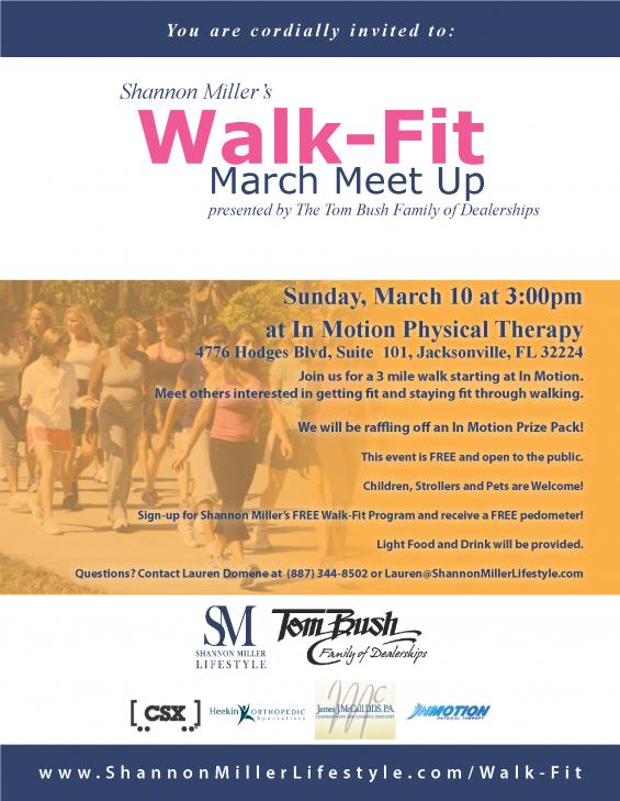Walk Fit Meet Ups Flyer March