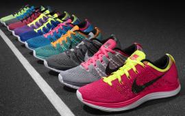 Nike Flyknit Lunar 1 light weight fitness shoes