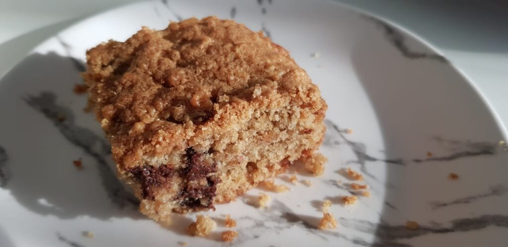 Oatmeal Cake with Raisins & Chocolate Chips