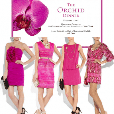 New York Botanical Orchid Dinner