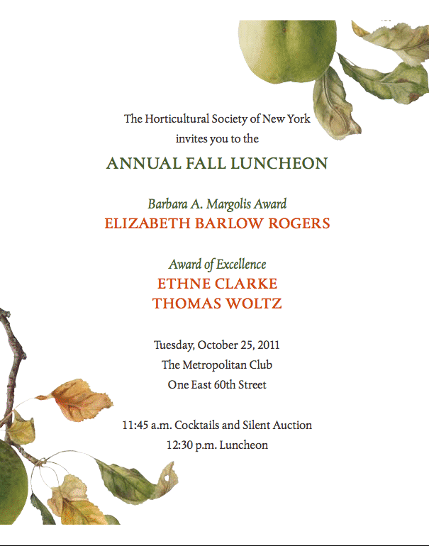 The Horticultural Society Fall Luncheon
