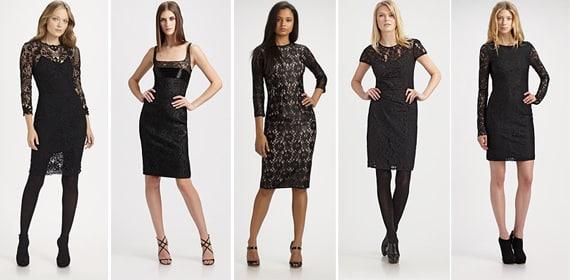 Little Black Lace Party Dresses