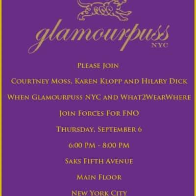 FNO Glamourpuss Invitation