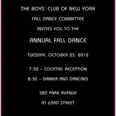 The Boys Club of New York Annual Fall Dance