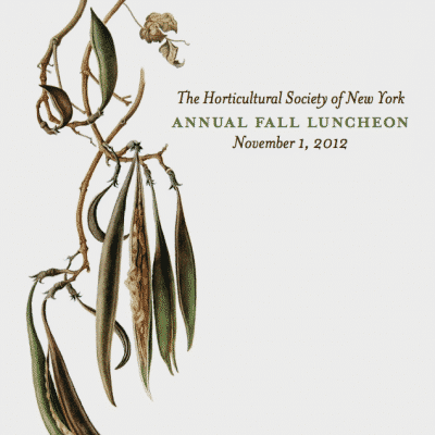The Horticultural Society of New York Annual Fall Luncheon