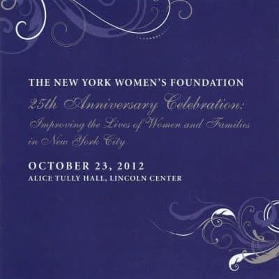 NY Women's Foundation 25th Anniversary Celebration