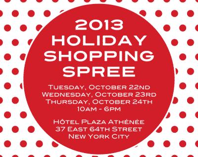 2013 Holiday Shopping Spree