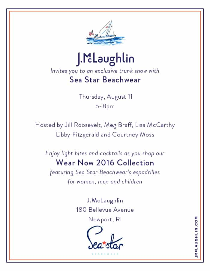 J.McLaughlin & Sea Star in Newport