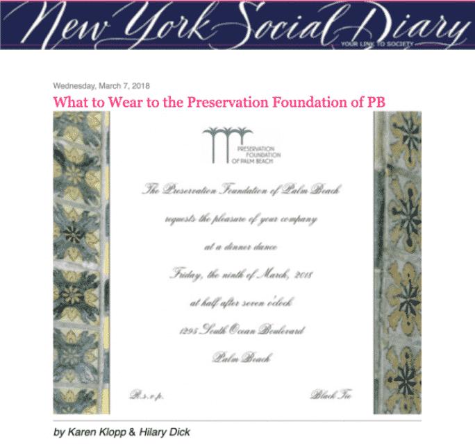 NYSD Preservation Foundation Palm Beach