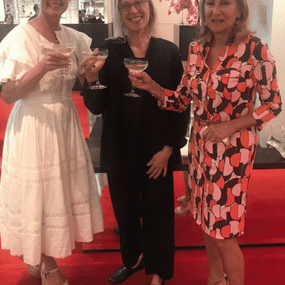 karen klopp, hilary dick, valerie steele at christian louboutin boutique, madison avenue