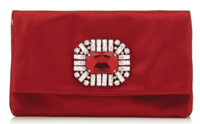 Jimmy Choo Red Satin Bag, Miracle on Madison