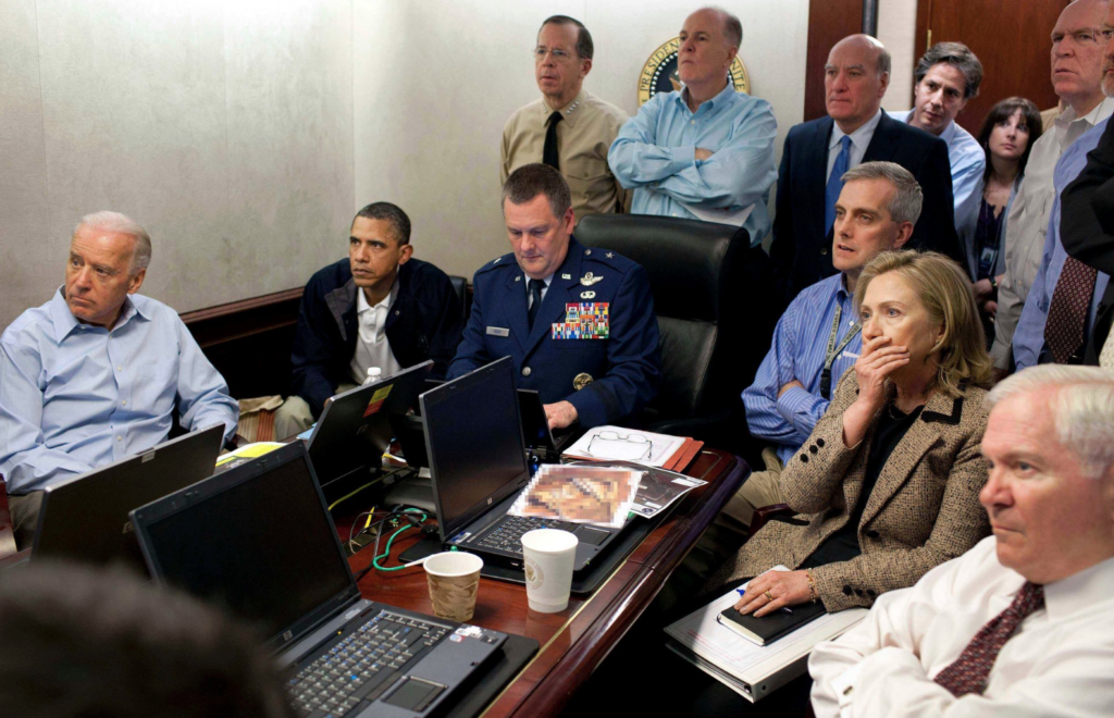 New York Times, photos of the decade.  The war room at the white house.