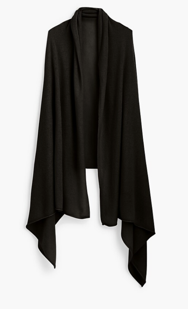 J. Crew oversized wrap, perfect for Winter Travel.
